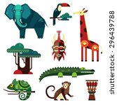 Geometric Flat Africa Animals...