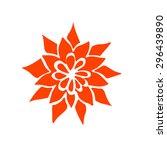 hand drawn flower mandala for... | Shutterstock .eps vector #296439890