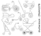 set of transport for children ... | Shutterstock .eps vector #296441378