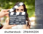 elegant woman ready for a shoot ... | Shutterstock . vector #296444204