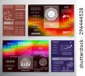 brochure set  templates for... | Shutterstock .eps vector #296444528