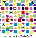 seamless pop minimal  traced... | Shutterstock .eps vector #296448620