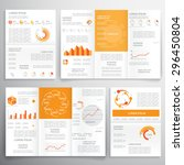 brochures for business reports  ... | Shutterstock .eps vector #296450804