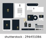 corporate identity template for ...   Shutterstock .eps vector #296451086