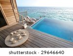 private pool and game board in...   Shutterstock . vector #29646640