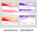 set of vector corporate... | Shutterstock .eps vector #296468429
