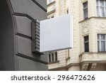 photo blank signboard on the... | Shutterstock . vector #296472626