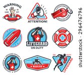 Set Of Vintage Lifeguard...