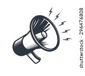 illustration of megaphone.... | Shutterstock .eps vector #296476808