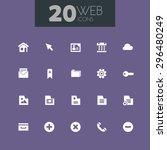 trendy flat design web icons