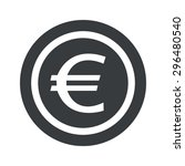 image of euro symbol in circle  ...