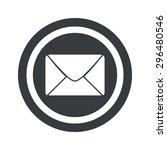 image of envelope in circle  on ...