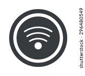 image of wi fi symbol in circle ...