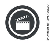 image of clapperboard in circle ...