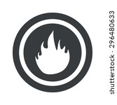 image of flame in circle  on...