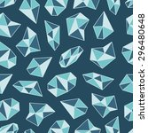 geometric pattern with crystals ...   Shutterstock .eps vector #296480648