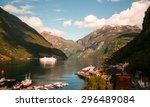 fjord in norway   Shutterstock . vector #296489084