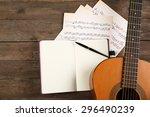 music recording scene with... | Shutterstock . vector #296490239