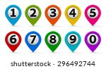 color map pointers with numbers ... | Shutterstock . vector #296492744