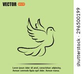 vector illustration flying... | Shutterstock .eps vector #296500199