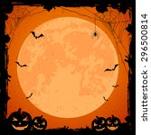 grunge halloween background... | Shutterstock . vector #296500814