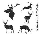 Set Of Black Forest Deer...