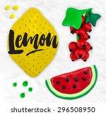 plasticine modeling fruits...