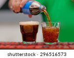 carbonated drink poured into a... | Shutterstock . vector #296516573