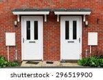 view of front doors of two... | Shutterstock . vector #296519900