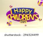 happy children's day | Shutterstock . vector #296524499