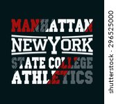 new york city typography... | Shutterstock .eps vector #296525000