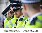 london   may 30  police stand... | Shutterstock . vector #296525768