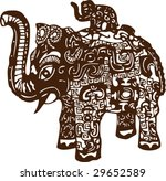 vector of artistic traditional... | Shutterstock .eps vector #29652589