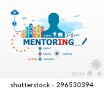 mentoring concept and business... | Shutterstock .eps vector #296530394