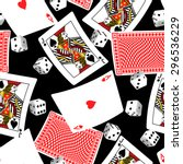 six sided dice and blackjack... | Shutterstock .eps vector #296536229