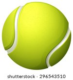single light green tennis ball... | Shutterstock .eps vector #296543510