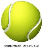 single light green tennis ball... | Shutterstock .eps vector #296543510