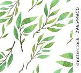 beautiful botanical seamless... | Shutterstock .eps vector #296544650