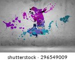 image with color silhouette of...   Shutterstock . vector #296549009