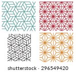 collection of four color star... | Shutterstock .eps vector #296549420