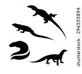 monitor lizard vector... | Shutterstock .eps vector #296555894