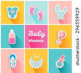 Baby Shower Card With Icons