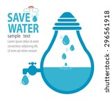 save water concept  ecology...