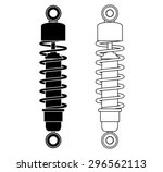 shock absorber. vector... | Shutterstock .eps vector #296562113