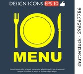 menu with cutlery sign.  | Shutterstock . vector #296567786