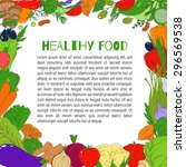 set of healthy vegetarian food. ... | Shutterstock .eps vector #296569538