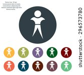 pictograph of success people | Shutterstock .eps vector #296573780