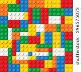 seamless pattern of plastic... | Shutterstock .eps vector #296575073