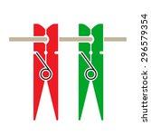 illustration of two laundry...   Shutterstock .eps vector #296579354