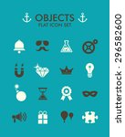 vector flat icon set   objects